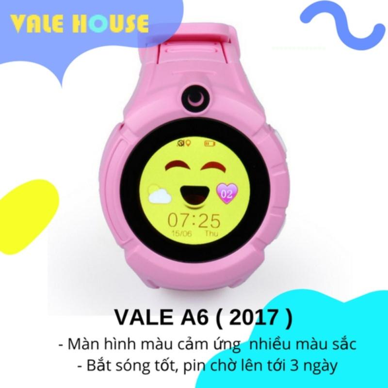 Đồng hồ thông minh gọi điện, định vị trẻ em VALE A6 ( Hồng phấn ) bán chạy