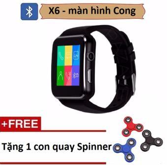 Đồng hồ thông minh X6 màn hình cong tặng Con quay Spinner