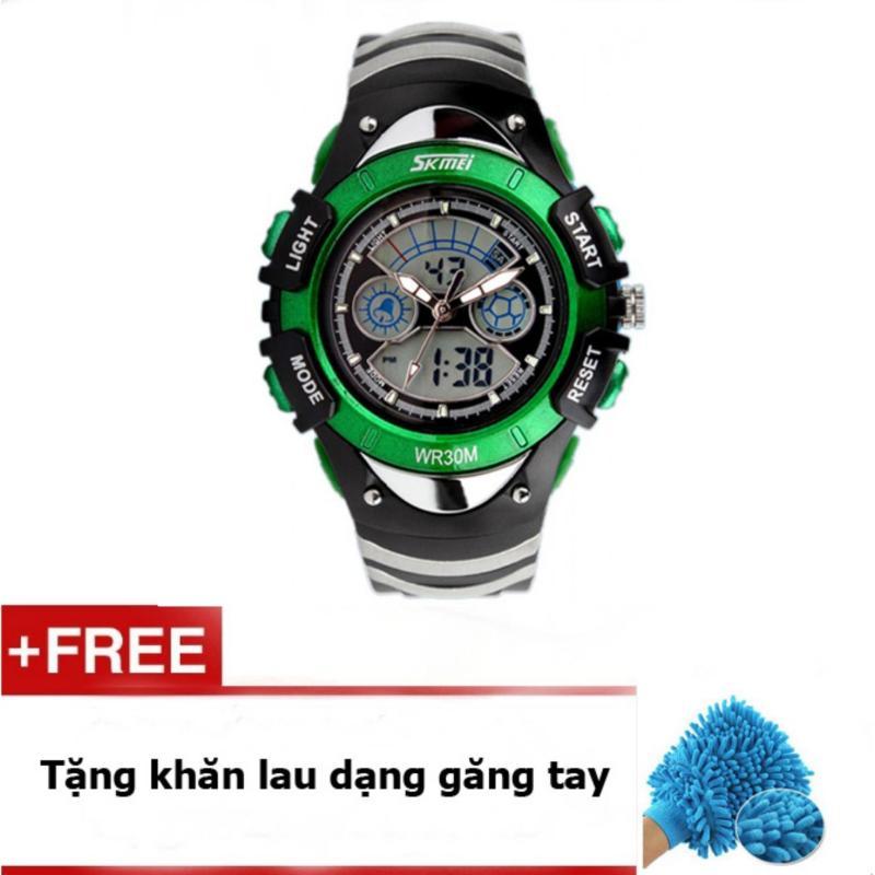 Đồng hồ trẻ em dây cao su Skmei 0998 (Xanh lá) + quà tặng bán chạy