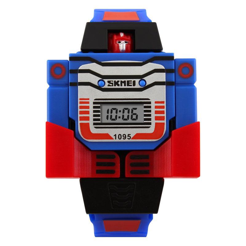 Đồng hồ trẻ em dây cao su Skmei 1095 (Xanh dương) bán chạy