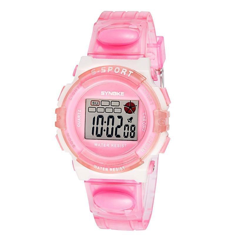 Đồng hồ trẻ em dây nhựa size nhỏ Synoke 99268 (Hồng) bán chạy