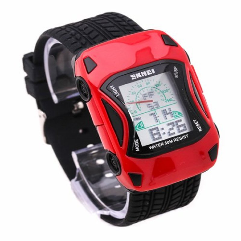 Đồng hồ trẻ em dây nhựa SKMEI P-SK027 (Đỏ phối đen) bán chạy