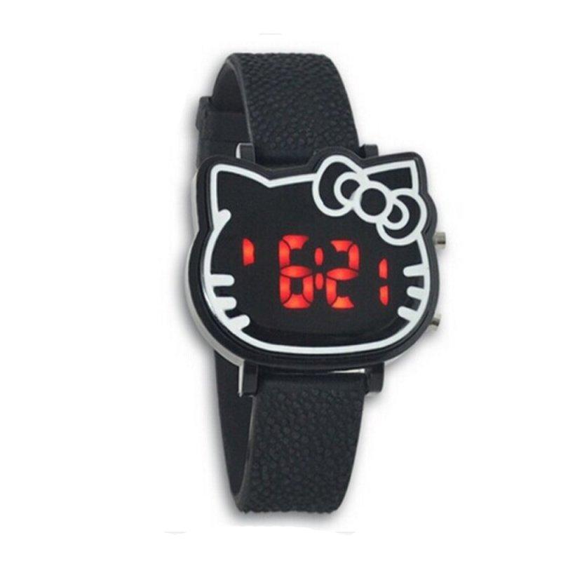 Đồng hồ trẻ em dây Silicon Kitty (Đen) bán chạy