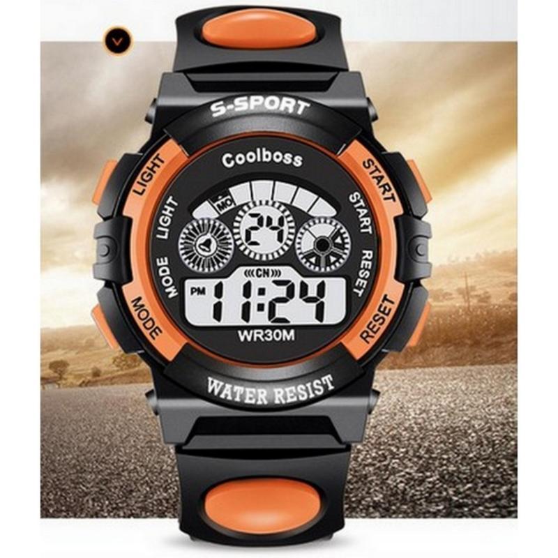 Đồng hồ trẻ em Decoshop68 W01-C màu cam đen giá tốt bán chạy