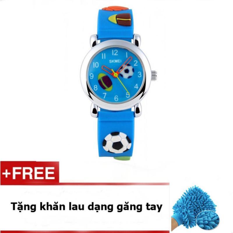 Đồng Hồ Trẻ Em Skmei 1047c Xanh + quà tặng bán chạy