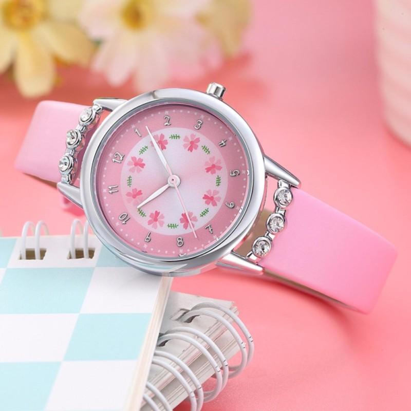 Đồng hồ trẻ em W13-H màu hồng giá tốt bán chạy