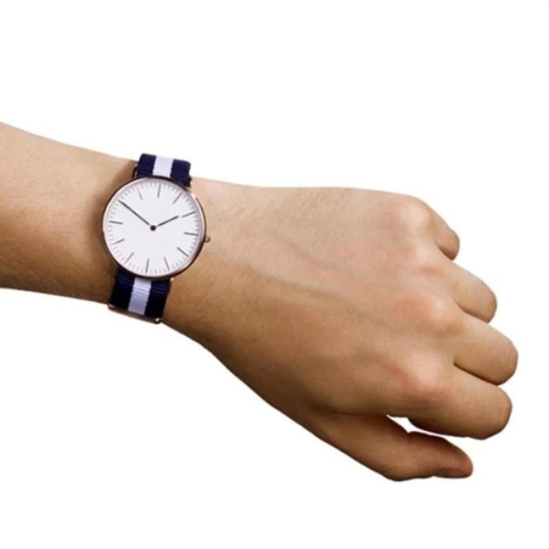 Nơi bán Đồng hồ Unisex dây vải nato Geneva xanh-trắng-xanh #001