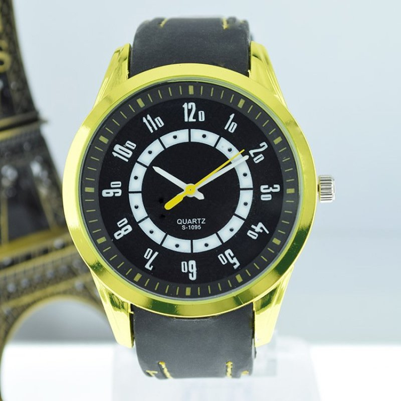 Easybuy Students High-Grade Silicone Slim Watches Men Women Wristwatch Gift Watch Yellow - intl bán chạy