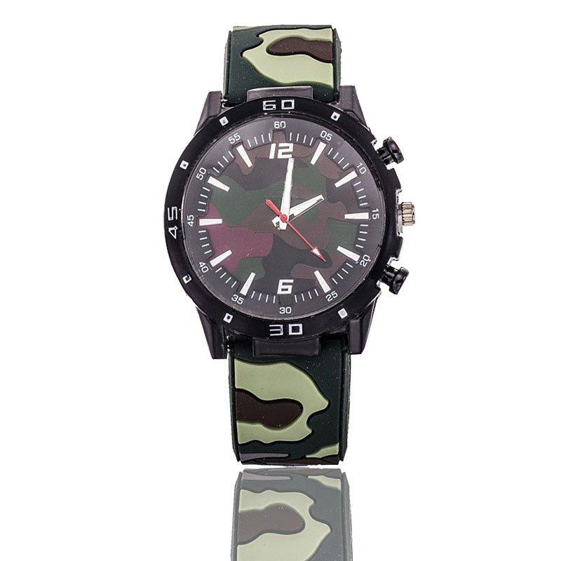 Nơi bán Easybuy Unisex Fasion Camouflage Silicone Sports Watch Analog Quartz Wristwatch(Green) - intl