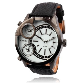 Fashion Mens watches sports watch quartz watch 3 Multi Time Zone -intl