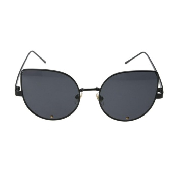 Báo Giá Female Cat Eye Trendy Street Snap Small Size Wide Side Diamond Sunglasses(Black)-one size – intl   UNIQUE AMANDA