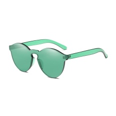 Giá Sốc Female Frameless Clear Conjoined Lenses Colorful Trendy Chic Sunglasses(Green)-one size – intl   UNIQUE AMANDA