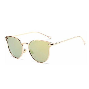 So Sánh Giá Female New Arrival Cat Eye Glasses Model Show Chic Arrow Sunglasses(Gold)-one size – intl   UNIQUE AMANDA