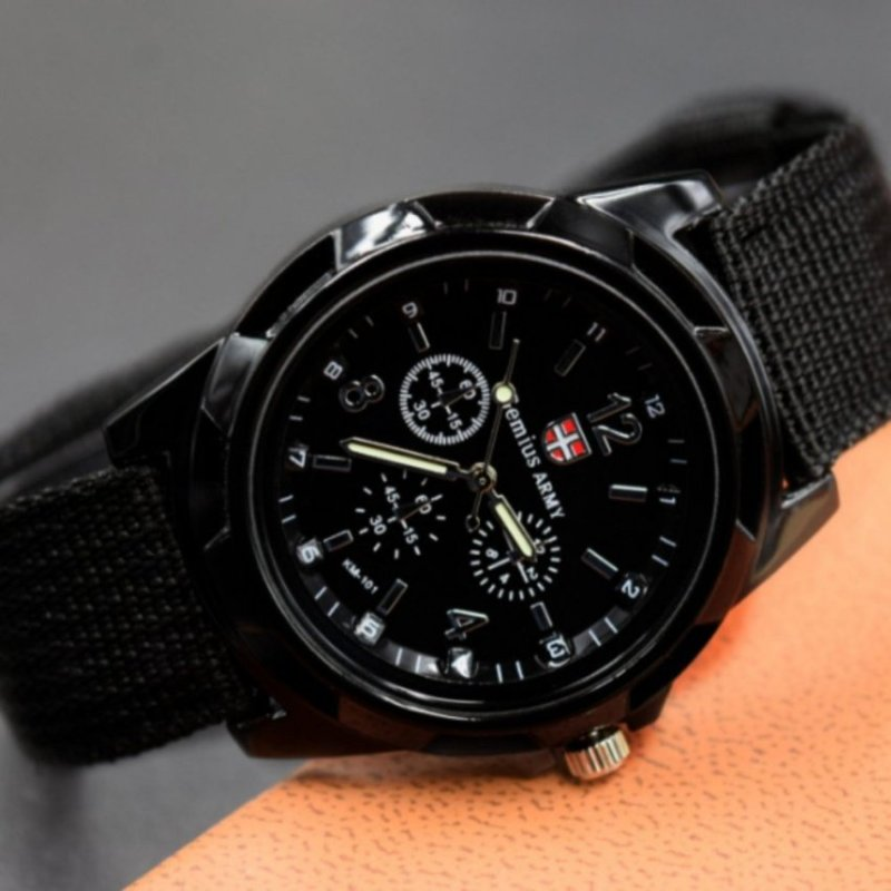 Nơi bán Gemius/Swiss black sports casual fashion watch(Not Specified)(OVERSEAS) - intl