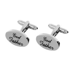 Thông tin Sp Godfather Wedding Party Gifts Shirt Cufflinks Silver Cuff Links Accessories – intl   MagiDeal