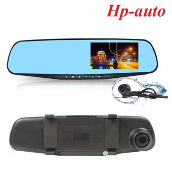 Gương chiếu hậu tích hợp camera hành trình HD kèm camera lùi Hp-auto