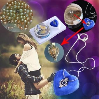 Jewelry Love Best Wish Pearl Drop Pendant Necklace Women Valentine's Day - intl