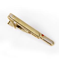 Đánh Giá Kẹp cà vạt 2.36″ Ornament cho nam/ Màu đỏ – Màu vàng – intl