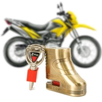 Khóa đĩa xe máy Zcon( vàng)