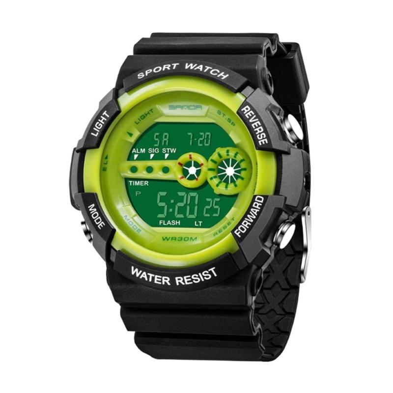 Kids Waterproof Electronic Outdoors Sports Wrist Watch(Green) - intl bán chạy