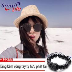 Địa Chỉ Bán Kính mát cá tính Unisex Sino S02-0044+Tặng kèm vòng tay thạch anh tỳ hưu đen  Smart Life
