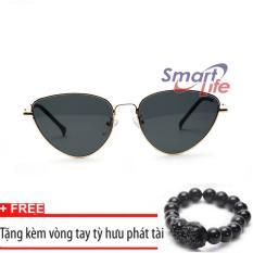 Giá Khuyến Mại Kính mắt nữ Sino S1045 đen+Tặng kèm vòng tay thạch anh tỳ hưu đen  Smart Life
