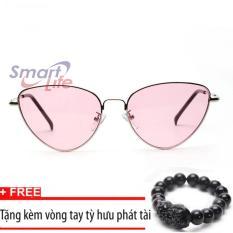 Nơi Bán Kính mắt nữ Sino S1045 hồng+Tặng kèm vòng tay thạch anh tỳ hưu đen  Smart Life