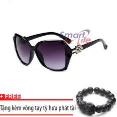 Bảng Giá Kính mát nữ Sino sành điệu S1046 đen+Tặng kèm vòng tay thạch anh tỳ hưu đen  Smart Life