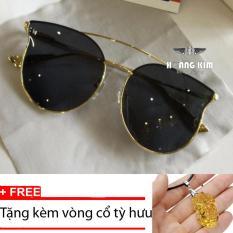 Cập Nhật Giá Kính mát nữ thời trang Sino S2017 màu đen+Tặng kèm vòng cổ tỳ hưu vàng  Hoàng Kim Digital