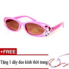 Giá Kính mát trẻ em DS9019 C4 (Hồng) + Tặng kèm 1 dây đeo kính trẻ em  Sunny (Tp.HCM)