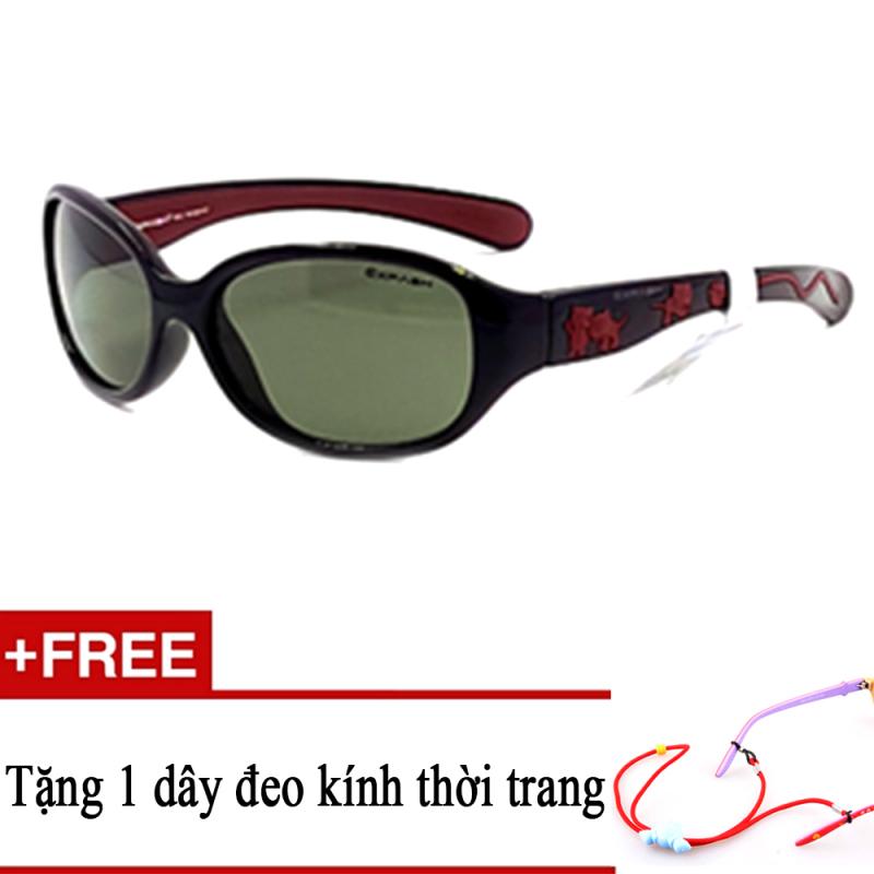 Mua Kính mát trẻ em EXFASH EF4742 906 (Đen phối) + Tặng kèm 1 dây đeo kính trẻ em