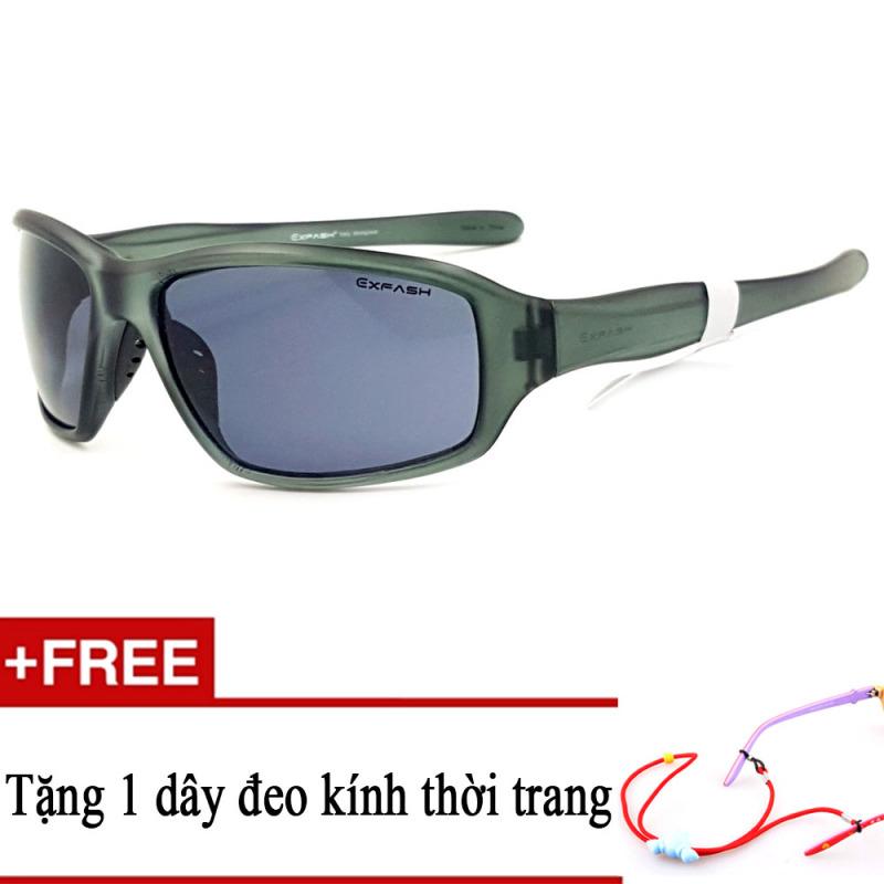 Mua Kính mát trẻ em EXFASH EF4743 919 (Đen) + Tặng kèm 1 dây đeo kính trẻ em