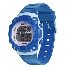 Giảm Giá LED Digital Electronic Multifunction Waterproof Children Watch (Dark Blue) – intl   crystalawaking