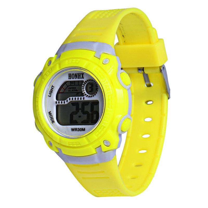 LED Digital Electronic Multifunction Waterproof Children Watch (Yellow) - intl bán chạy