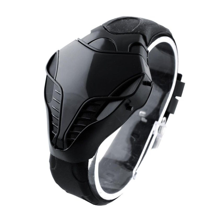 LED Digital Fashion Boy Mens Cobra Iron Triangle Dial Wrist Watch New - intl bán chạy