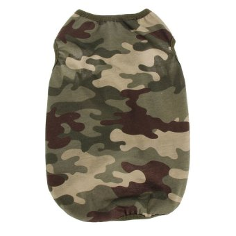 Lemon New Fashion Middle Puppy Dog Summer Thin Vest Pet ClothesPink Camo - intl
