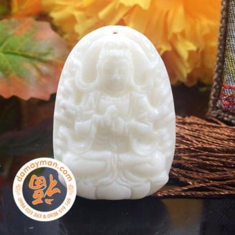 Mặt Dây Chuyền Phật Bản Mệnh Như Lai Đại Phật Bạch Ngọc