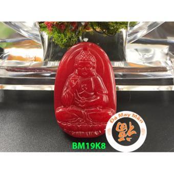Mặt Dây Chuyền Phật Bản Mệnh Phật A Di Đà Cẩm Thạch Đỏ
