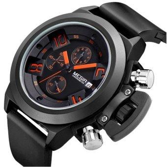 MEGIR 2002 Men Calendar Rubber Sport Quartz Wrist Watch - intl - 2 ...