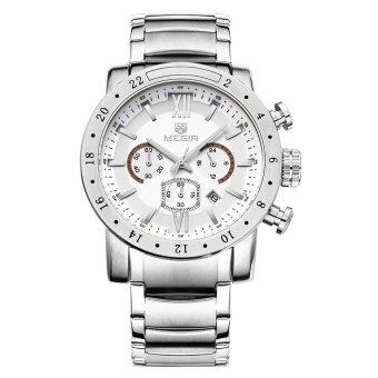 MEGIR Men Quartz Watch 30M Water Resistance Wristwatch - intl