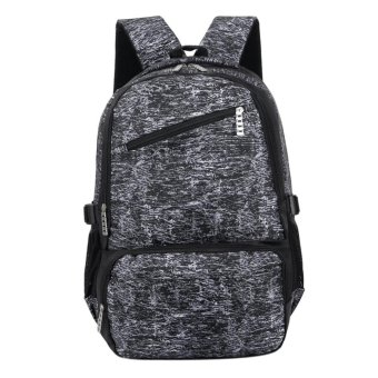 Men and Women Oxford Outdoor Travel Large Capacity Backpack (Black)- intl