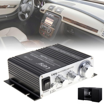 Mini Car V3 20W 12V Hi-Fi Stereo Amplifier MP3 Vehicle for iPod -intl