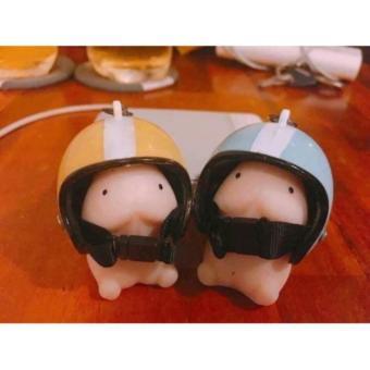 Móc khóa hình bé ciu đội nón bảo hiểm (màu nón ngẫu nhiên) - 4