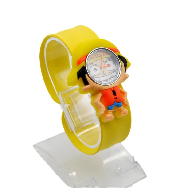 Moonar Cartoon Slap Watch For Children Cartoon Snap Wristwatch ( Luffy ) - intl bán chạy