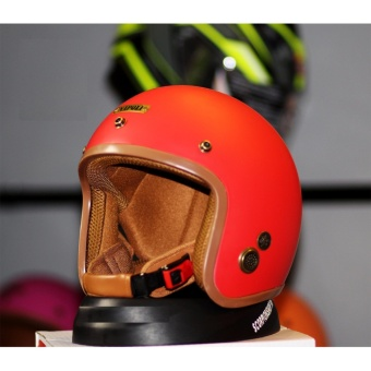 Mũ Bảo Hiểm 3/4 Napoli SH 01 - Tem chuẩn CR ( màu đỏ )