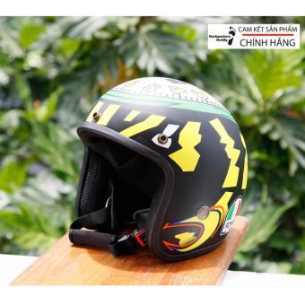 Mũ bảo hiểm 3/4 Roma 2.0 - Tem Đồng Hồ