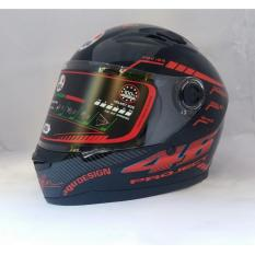 Mũ Bảo Hiểm FULL FACE AGU tem 46 đỏ - Bảo Hành 12 Tháng