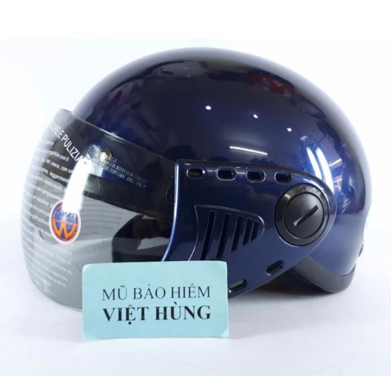 Mũ bảo hiểm GRS A08 (Xanh Đậm bóng) (Mũ dành cho người đầu nhỏ hoặc trẻ em trung học phổ thông)
