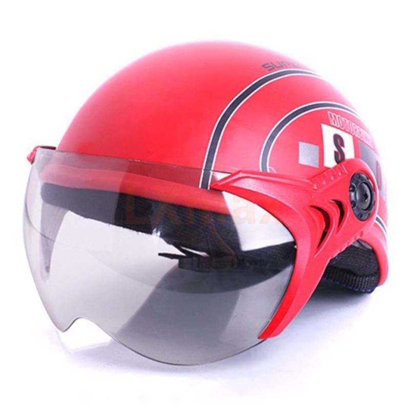 Mũ bảo hiểm SPO trẻ em có kính cao cấp (Đỏ)