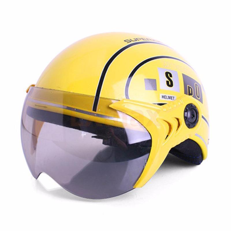 Mũ bảo hiểm SPO trẻ em có kính cao cấp (Vàng)